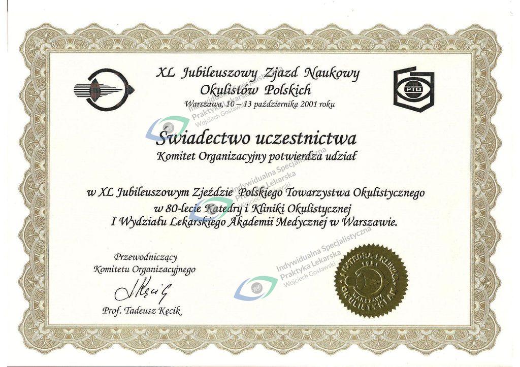 Okulista dr Wojciech Gosławski  Szczecin    Indywidualna Specjalistyczna Praktyka Lekarska